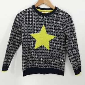 Mini Boden Kids Star Print Pullover Sweater 140cm